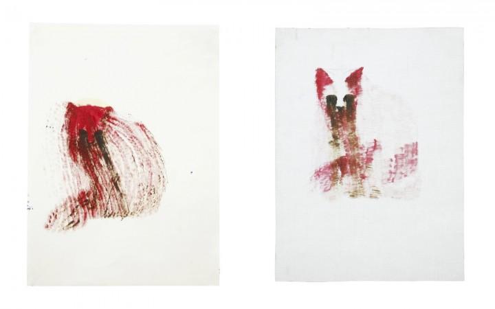 Cat paintings, documentation 14